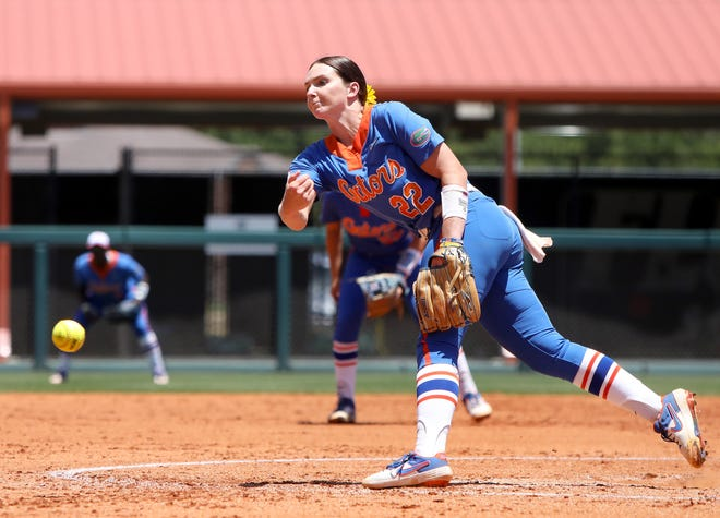 Florida pitcher Elizabeth Hightower was again unhittable Sunday against South Florida in the NCAA Gainesville Regional at Katie Seashole Pressly Stadium.