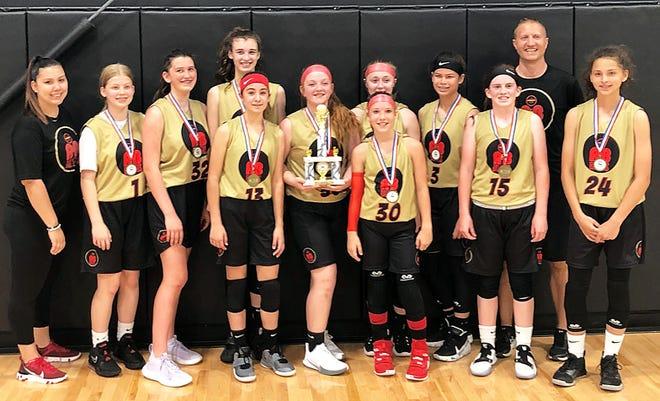 The A&B Ballers Basketball Club won the seventh/eighth grade girls championship at the T&T Sports Virginia Hoopfest in Harrisonburg, Va.