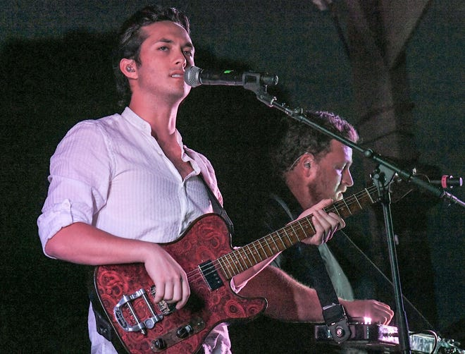 American Idol 2019 winner Laine Hardy performed over the weekend at the Lamar-Dixon Expo Center in Gonzales. In this file photo, Hardy plays Denver Downs Farm in Anderson, S.C. on May 22.