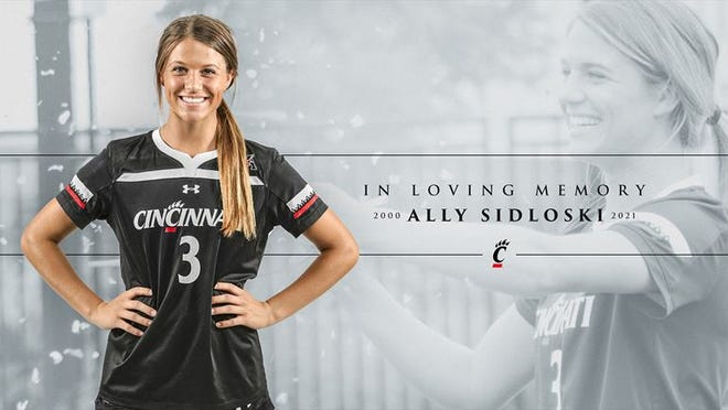UC women's soccer player Ally Sidloski, 21, passed away on Saturday, May 22, 2021.