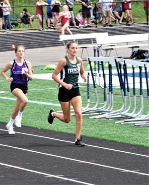 Fisher Catholic senior Natalie Boyden placed first in the 3,200 and second in the 1,600 and was on two regional-qualifying relay teams during Saturday's Division III, District 1 District track and field meet at Granville High School.