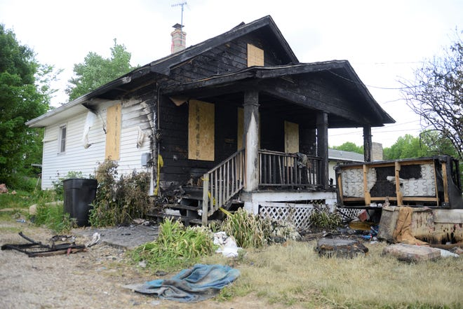 Two dogs died in a house fire on Cook Road Saturday afternoon.