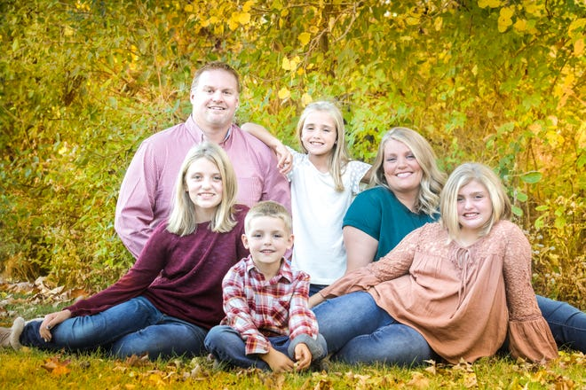 The Pearson family, parents Craig and Stephanie, and children Adeline, Brookelyn, Cadence and Andrew.