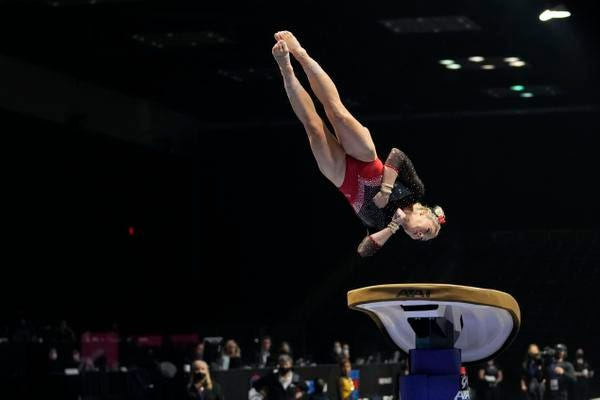 MyKayla Skinner of Desert Lights Gymnastics was fourth on vaulting and 10th all-around Saturday at the GK U.S. Classic in Indianapolis.