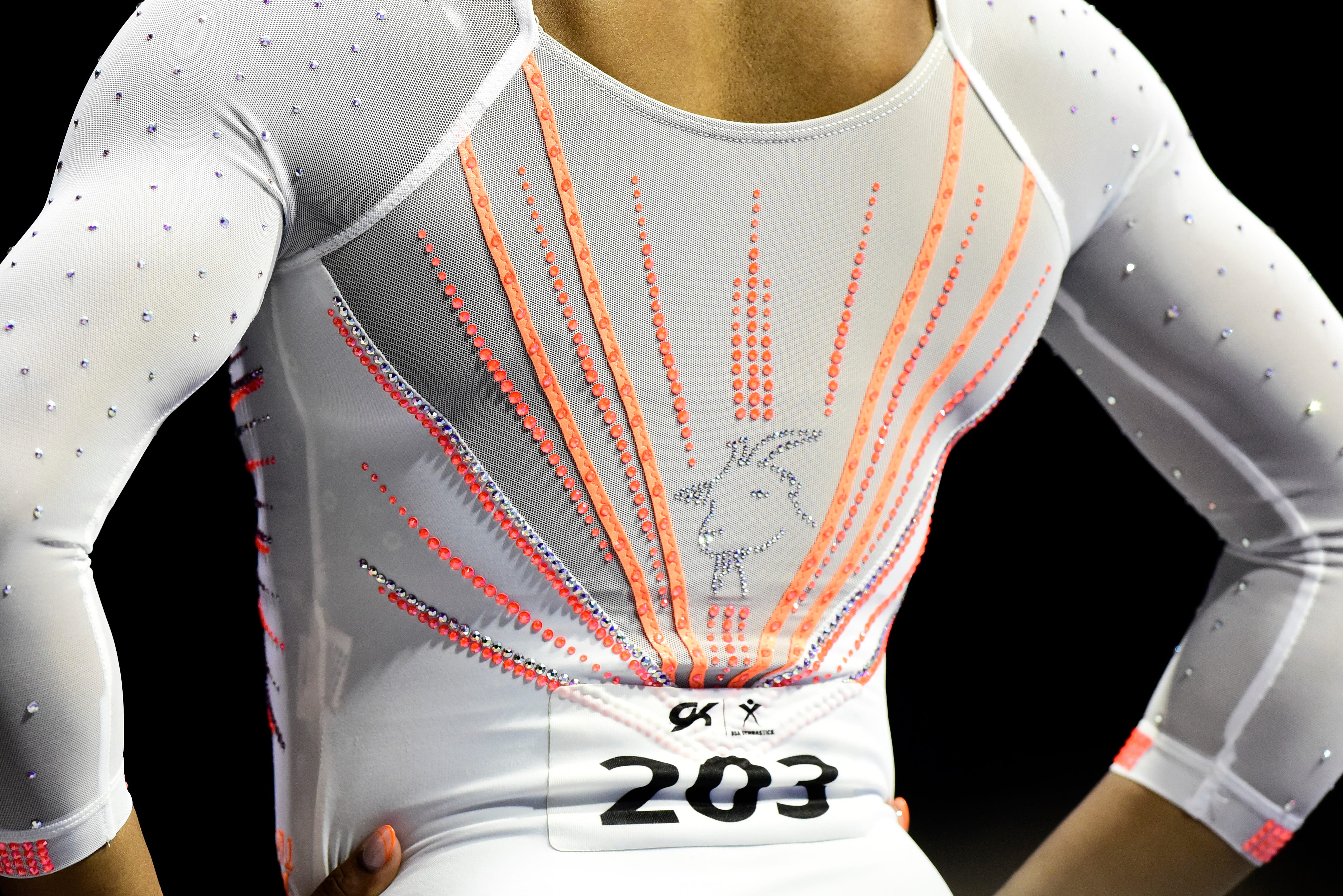 The GOAT is back. Simone Biles  GOAT leotard, that is