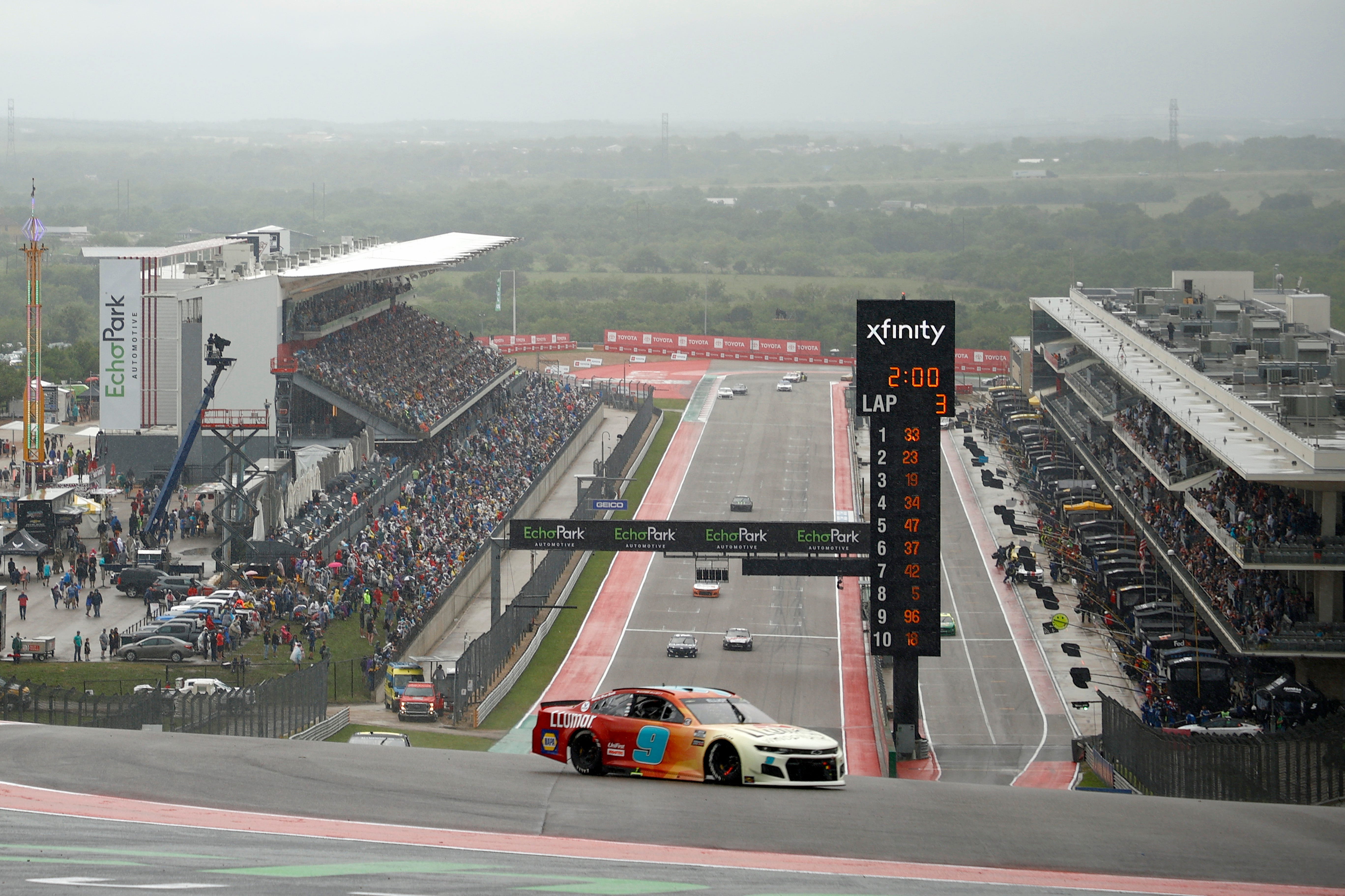 Chase Elliott wins in Austin when NASCAR race at Circuit of the Americas is called for rain