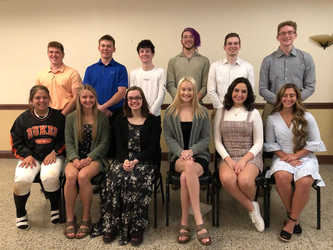 Alliance Elks Lodge 467 recently honored its Teenagers of the Year during an event celebrating students' achievements over the past school year. On hand were, front row from left, Laura Kohmann, Emma Egli, Rebecca Zupko, Chloe Orzo, Graceyn Dowd and Hana Esber; and, back row from left, Evan Bland, Brock Smith, Connor Shepherd, Rodrigo Hall, Joshua Grosswiller and Alexander Granat.