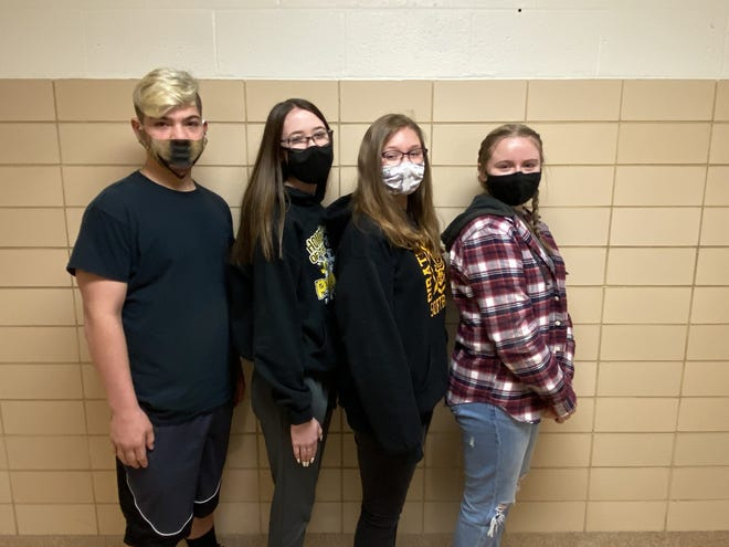 Members of the Black River High School FFA poultry team, from left, are Cooper McKean, Kennadi Fusco, Sarah Racut and Katie Seger Not pictured are Katlyn Kubitz and Cassidy Mrakuzic.