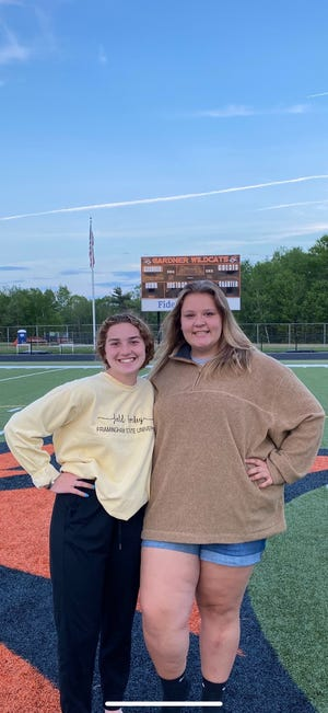 2021 Senior Class President Haylee Girouard, left, and Maegan Columbus were among the graduating Gardner High School students who decided to hold their own prom after school officials canceled the official event due to COVID concerns.