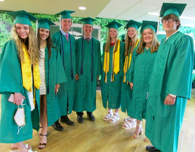 The four sets of twins in the GHS Class of 2021 are, from left, Elizabeth Yost, Emily Yost, Carson Rice, Charlie Rice, Abbi Barickman, Maddi Barickman, Breann Keller and Brice Keller.