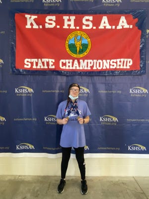 Newton sophomore Madison Horton claimed two medals and was named second-team all-state Saturday at the Class 5-4-3-2-1A state championships in Topeka. SUBMITTED PHOTO