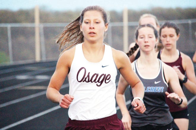 School of the Osage senior Sara Wolf will represent the Indians at four different events at state- the maximum number allowed- in the Class 3 State Meet on May 29 in Jefferson City.