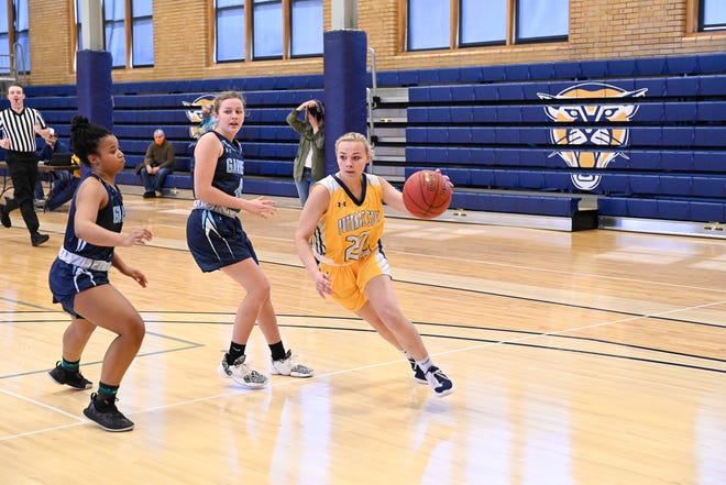 Potomac State's Alexis Yanosky is shown in action at the Dana G. Lough Gymnasium this year.