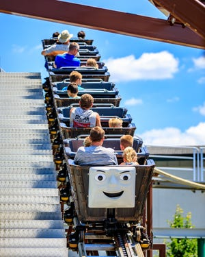 The Troublesome Trucks Runaway Coaster is is one of the rides in Thomas Land at Edaville in Carver.
