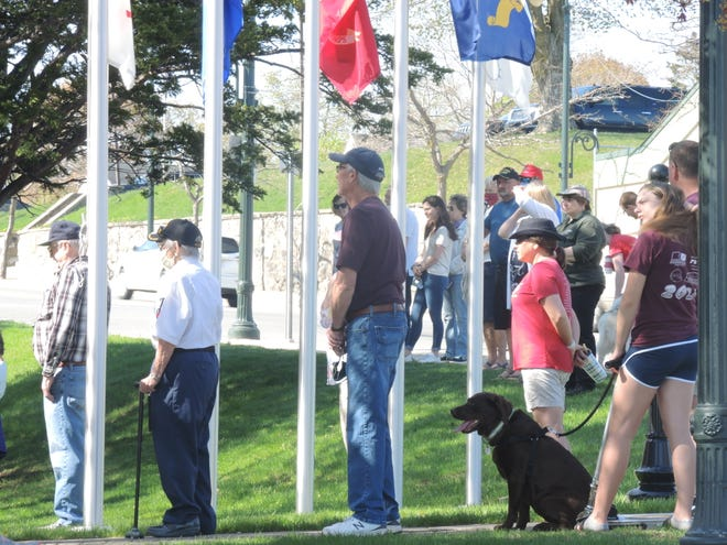 Last year, residents gathered in Veterans Park to pay their respects on Memorial Day during the coronavirus pandemic.