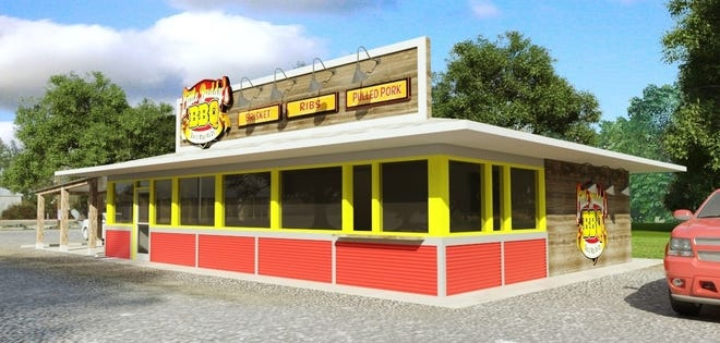 Little Buddy's BBQ rendering for the McKenney, Va. location.
