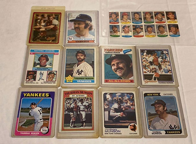 The late Bob Krahling's collection - which is for auction May 26 through June 2 - includes a significant number of New York Yankees catcher Thurman Munson memorabilia. Munson, a Canton resident, died in a 1979 plane crash. The bidding ends 1 p.m. on June 2.