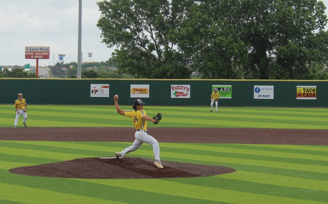 Reece Elston pitched the entire game for Stephenville against Graham on Saturday and struck out 5 Steers