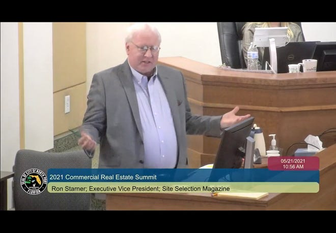 Ron Starner executive vice president of Site Selection Magazine talked about the impact of the COVID-19 pandemic on criteria used those who select sites for corporate relocation or expansion at the fifth annual North Port Real Estate Summit.