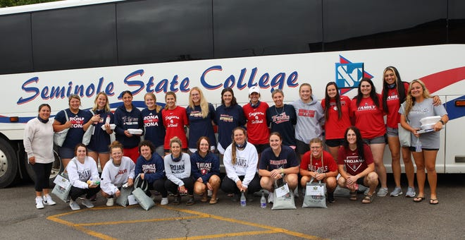Seminole State College held a send-off Friday for its softball team on Friday before it traveled to Yuma, Arizona to compete in the NJCAA National Tournament. Campus and community members gathered to wish them good luck. The Trojans' first game will be against Odessa College (Texas) Tuesday at 4 p.m.