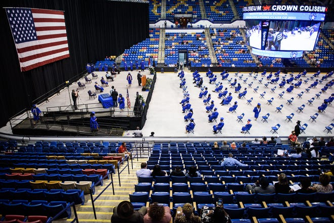 Westover High School commencement ceremony at the Crown Coliseum on Monday, May 24, 2021.