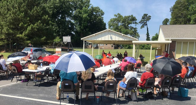 First United Methodist Church of Rainbow City held a special outdoor service May 23 to mark Pentecost Sunday.