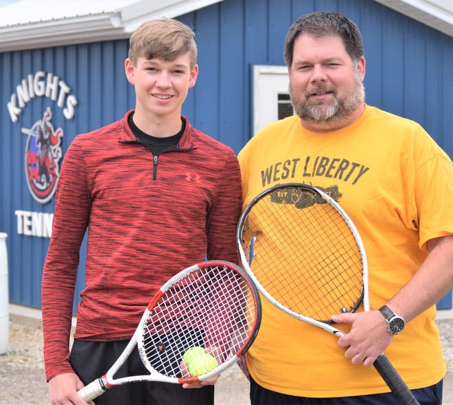 Curtis Wagner and his head coach Jason Otto will take part in the Boys Tennis State Tournament later this week.