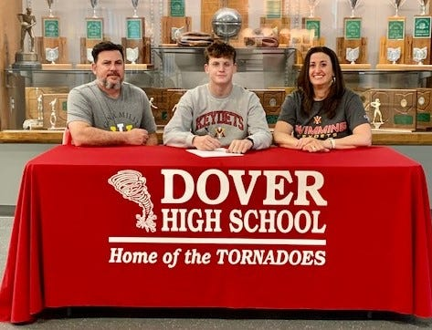 Dover High School is proud to announce that senior Blake Sexton, the son of Elizabeth Sexton and Shane Sexton, will continue his education and swimming career at Virginia Military Institute located in Lexington, Va.