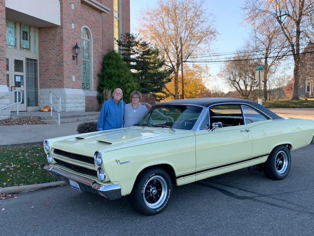 The Webers are still married and still have the car he bought in 1969.