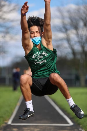 Sophomore Blake Bilger competed in the long jump in the Division I regional meet May 26 at Pickerington North. He advanced by finishing fourth(personal-best 20 feet, 11 inches)in the district 2 meetMay 18at Hilliard Darby.