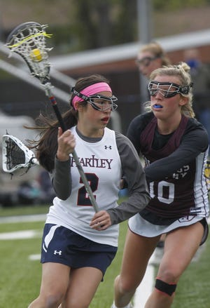 Ameliana Conigy helped Hartley reach a regional semifinal for the first time. The Hawks finished 9-11 with a 13-7 loss to DeSales on May 25. They beat CSG 18-13 on May 19 and Bexley 17-12 on May 22 in the first two rounds.