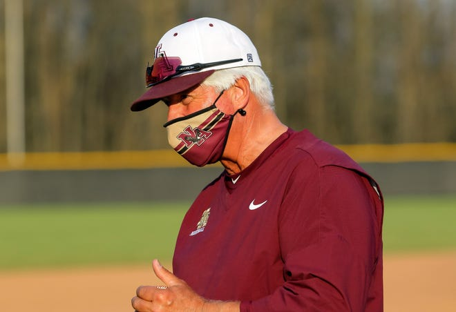 New Albany baseball coach Dave Starling earned his 500th career victory with an 11-0, five-inning win over Whetstone in the second round of the Division I district tournament May 19. The Eagles won their third consecutive district title May 26, defeating Olentangy Liberty 5-2.