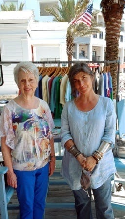 """Gail Pallotta signed copies of her books May 7 at Sundog Books in Seaside. """"Also, what fun to spend some time chatting with Laney Blanchard, one of the staff members,"""" Pallotta wrote."""