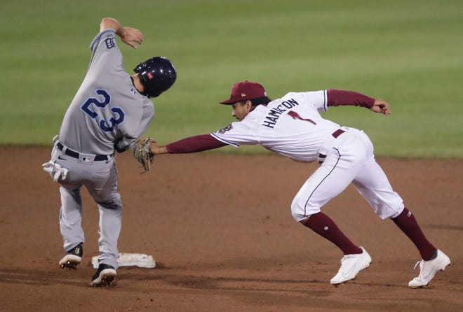 Timber Rattlers infielder David Hamilton leads the team in several offensive categories and leads the High-A Central League with 23 stolen bases.