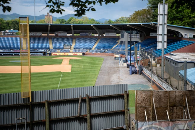 Two massive home runs have made it out of McCormick Field and onto Memorial Stadium, which lies well beyond the left field line and fence, seen here.