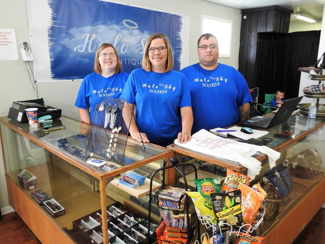 Brittany Hayes, Melinda Courtright and Nathan Hayes recently opened Halo Sky Boutique on Ohio 83 near Lake Park. It started with Facebook Live sales in August. It has a variety of items, such as clothes, keychains, purses and jewelry.
