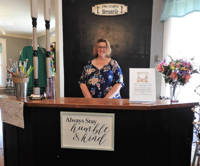 Jennifer Hostetler long dreamed of being her own boss and owning her own shop. The Craft Mercantile recently opened in Roscoe Village with handmade items by Hostetler and others.