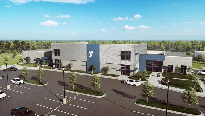 Rendering of a new YMCA building for Easley