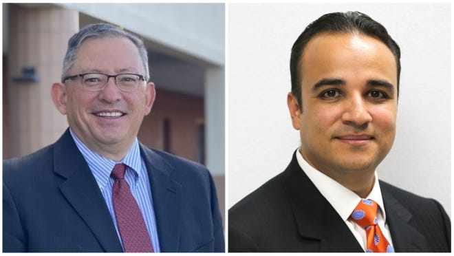The Las Cruces Public Schools school board announced its two finalists to fill the permanent superintendent position: Ralph Ramos and Oscar Rico.