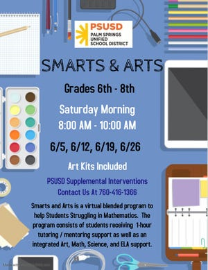 Smarts and Arts Summer 2021 flyer