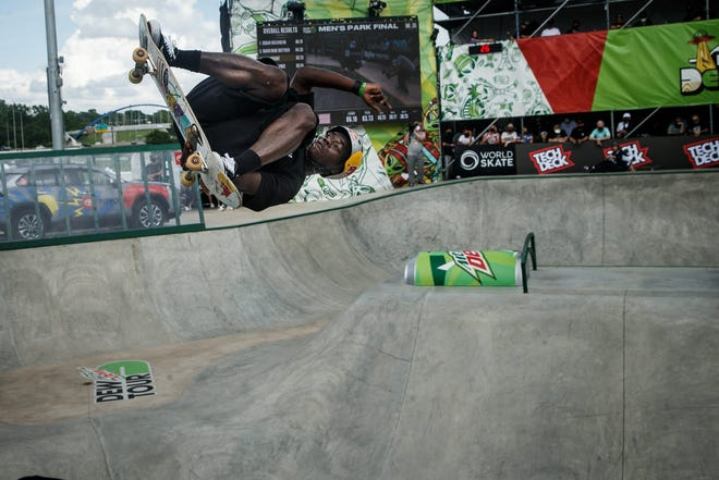 Zion Wright won the Dew Tour men's park title Sunday in Des Moines, qualifying for the U.S. Olympic team.