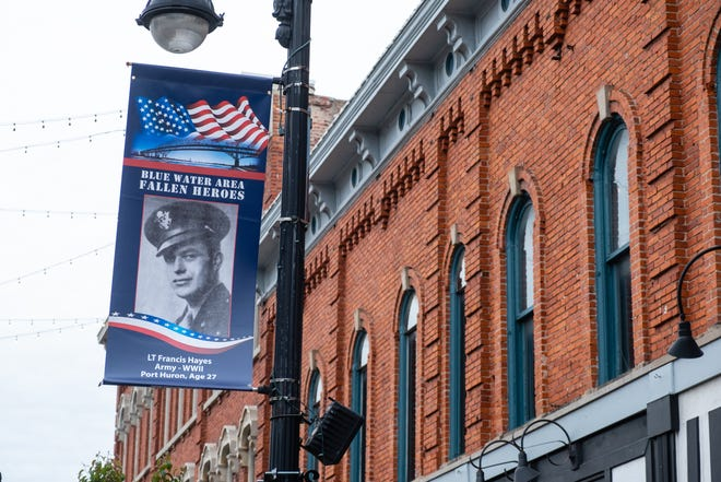 The Blue Water Area Fallen Heroes banners will hang in downtown Port Huron until June 4. The program aims to put a photo of every service member from St. Clair County who died while in service since World War I.