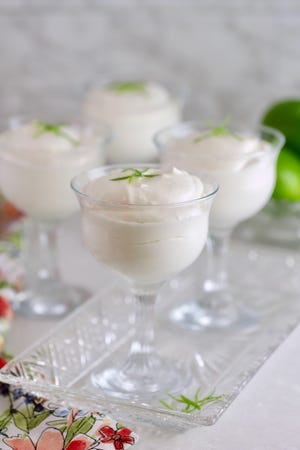 With only four ingredients, this no-bake, light as a cloud mousse, combines cream cheese, sweetened condensed milk, frozen whipped topping, and tart key lime juice.