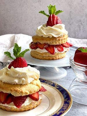 Whip together a fast strawberry shortcake using a biscuit mix.