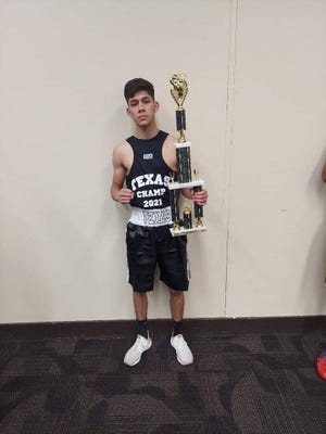 Andres Perez of El Paso won a state Golden Gloves title at 108 pounds this past weekend.