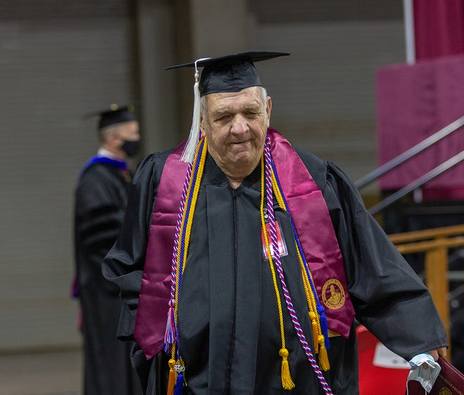 Billy Wade Parsons graduated from MSU Texas at age 78.