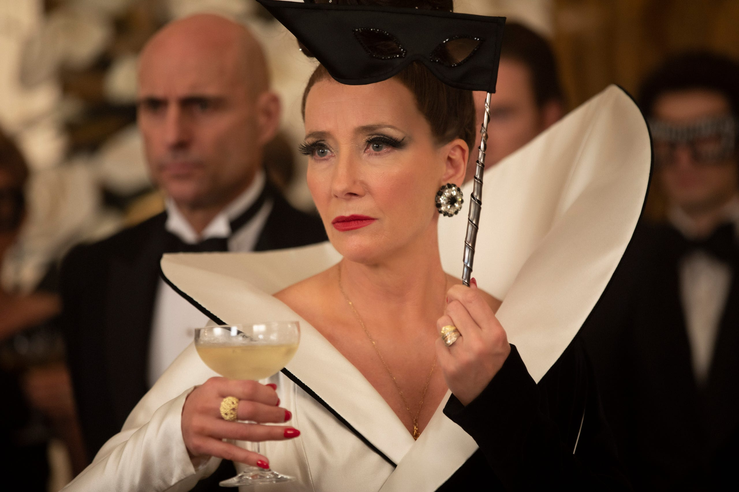 """Emma Thompson plays high-profile fashion icon Baroness von Hellman, a mentor and foil to the main character of """"Cruella."""""""