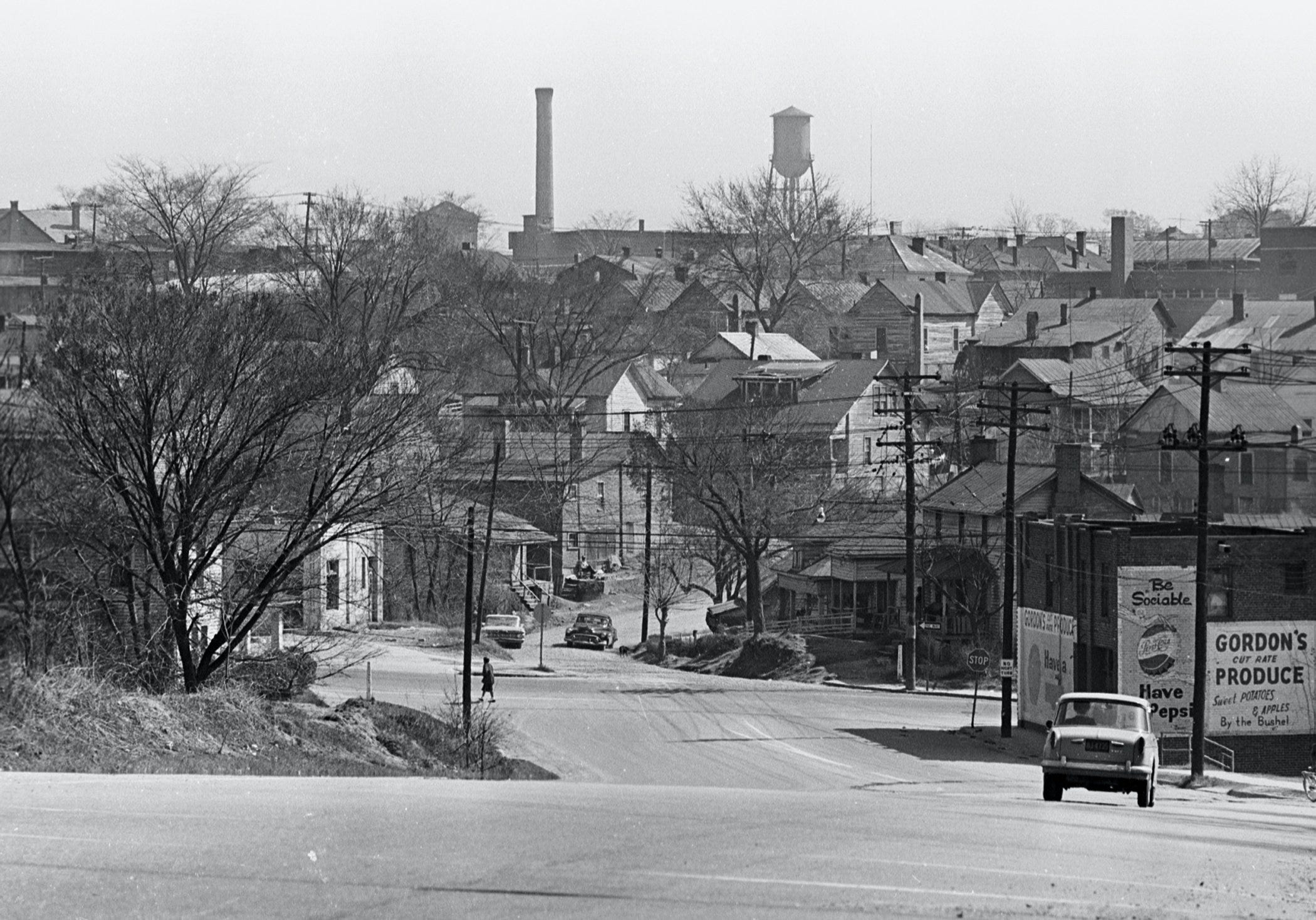 File photo, from March 1, 1965, shows a portion of the Hayti community that was cleared out during Durham's Urban Renewal project.