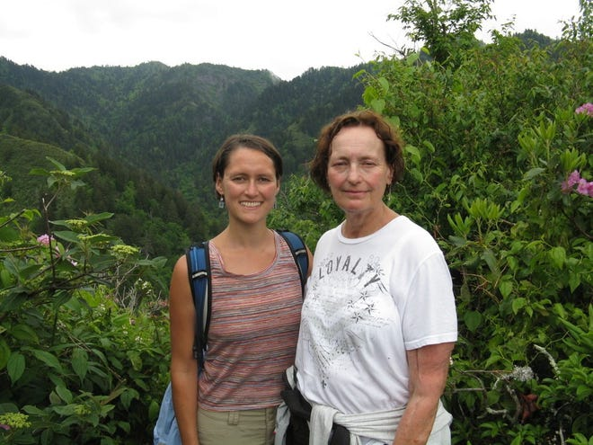 Heather Houser and Bette Houser in Great Smoky Mountains National Park in June 2013.