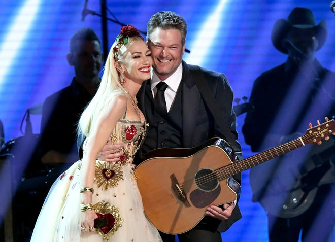 Gwen Stefani and Blake Shelton perform at the 62nd Annual Grammy Awards at Staples Center on Jan. 26, 2020 in Los Angeles.